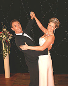 Demonstration wedding dance lessons